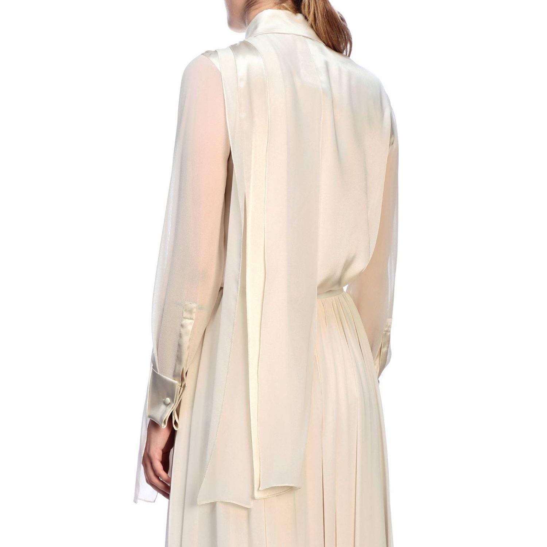 Camicia Max Mara: Camicia Mrsala Max Mara in seta lavata con collo a foulard crema 3