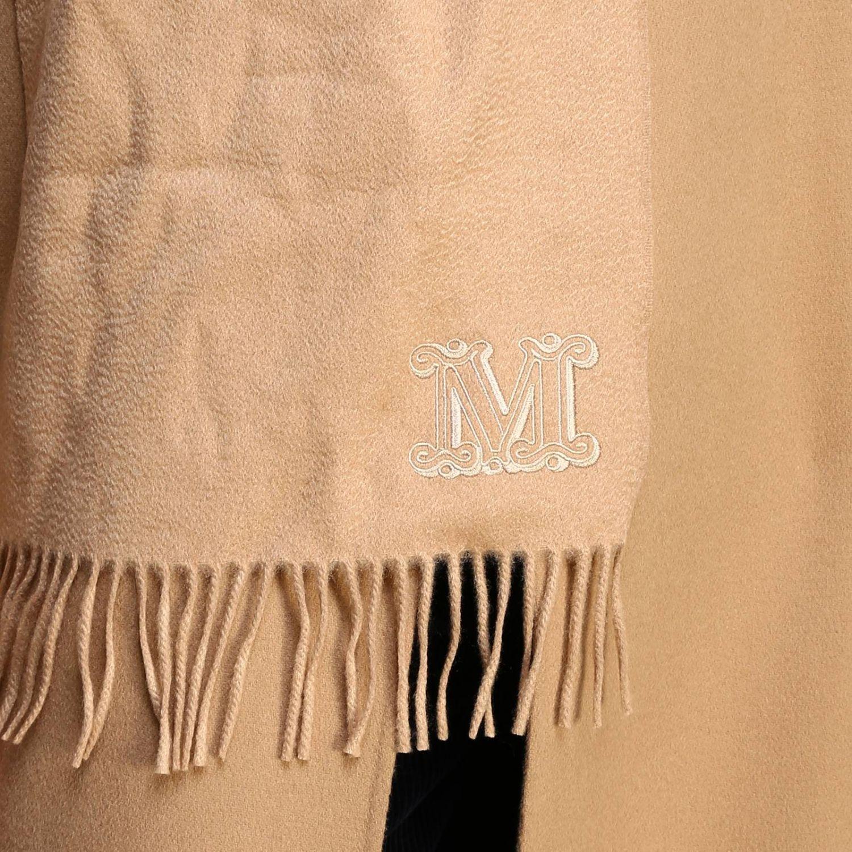 Écharpe Max Mara: Écharpe Wsdalia Max Mara en pur cachemire avec détail MaxMaraGram brodé chameau 3