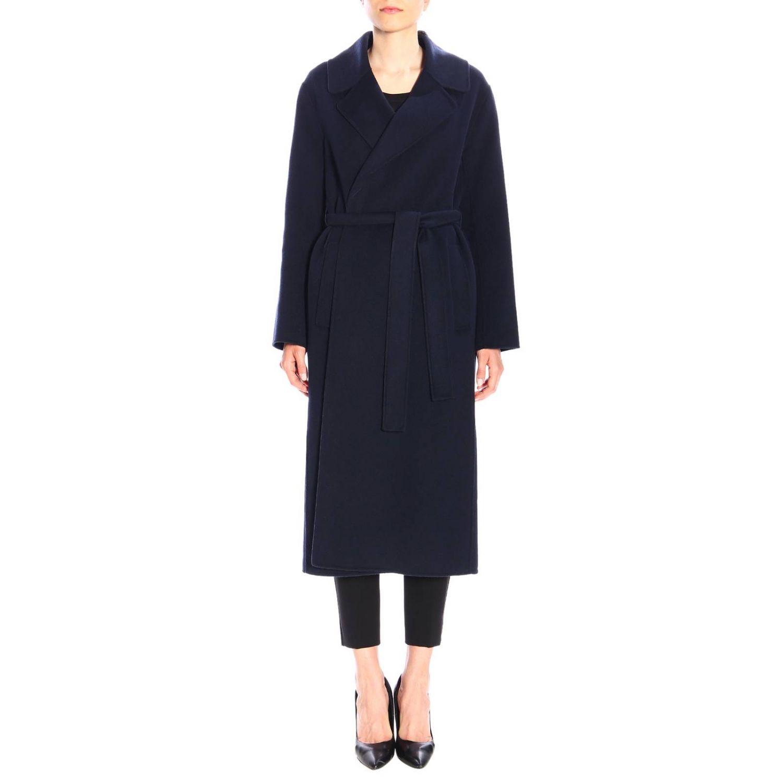 Abrigo mujer S Max Mara azul oscuro 1