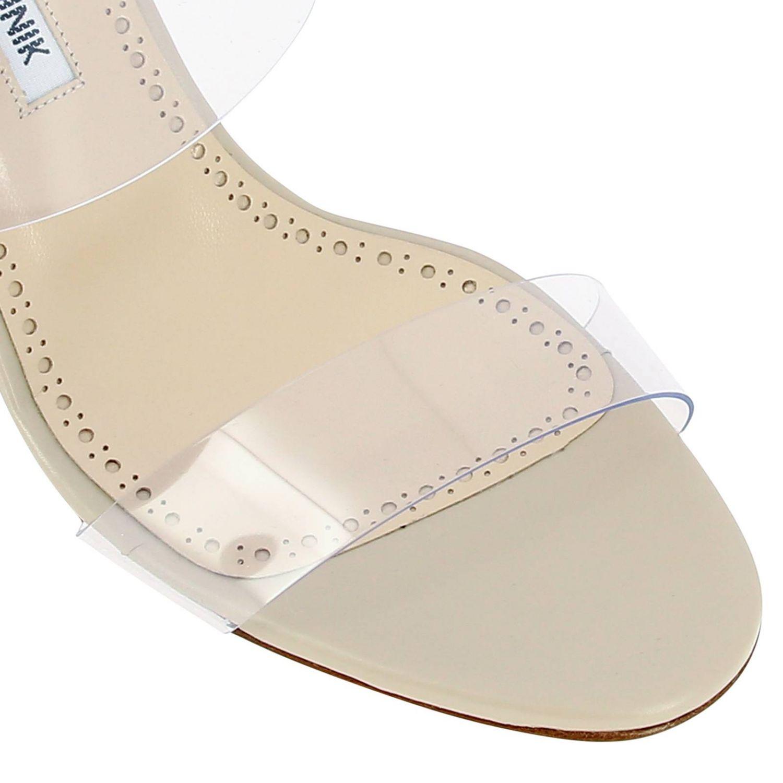 Sandalo Scolto Manolo Blahnik in pvc con doppia fascia nudo 3