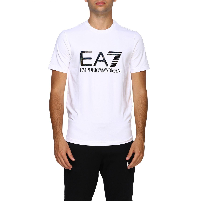 T-shirt herren Ea7 weiß 1