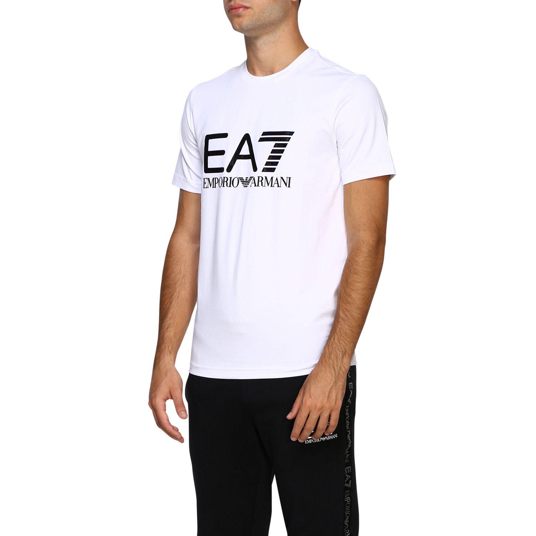 T-shirt herren Ea7 weiß 4