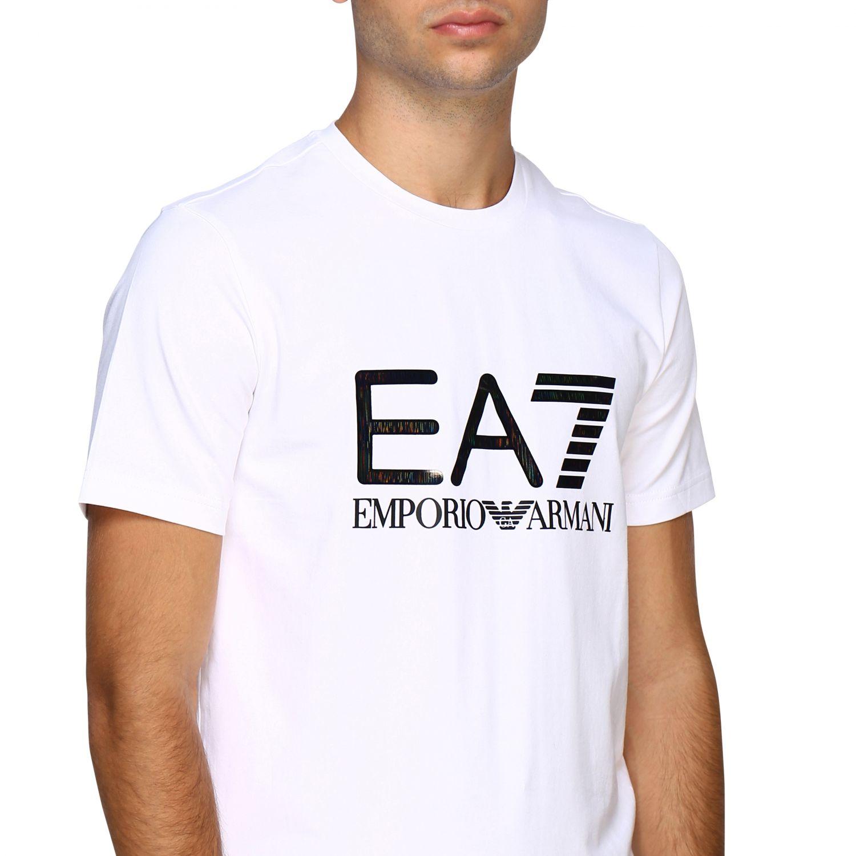 T-shirt herren Ea7 weiß 5
