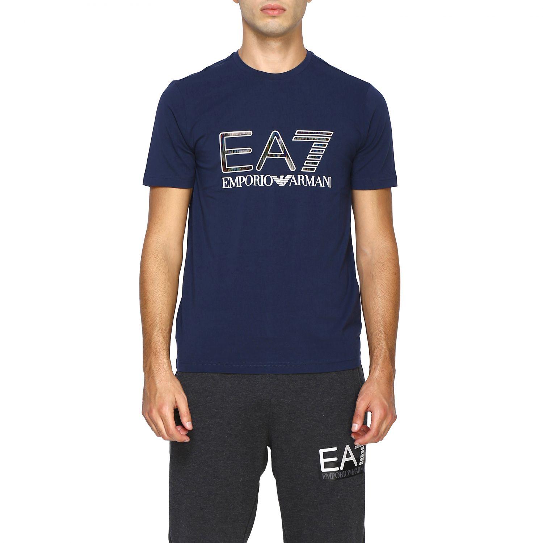 T-shirt homme Ea7 bleu 1