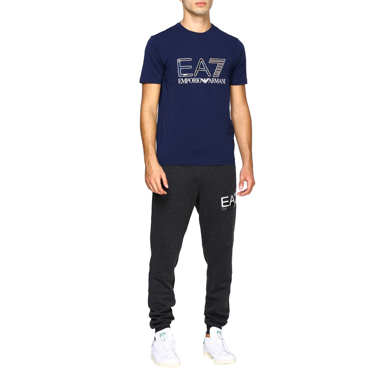 T-shirt homme Ea7 bleu 2