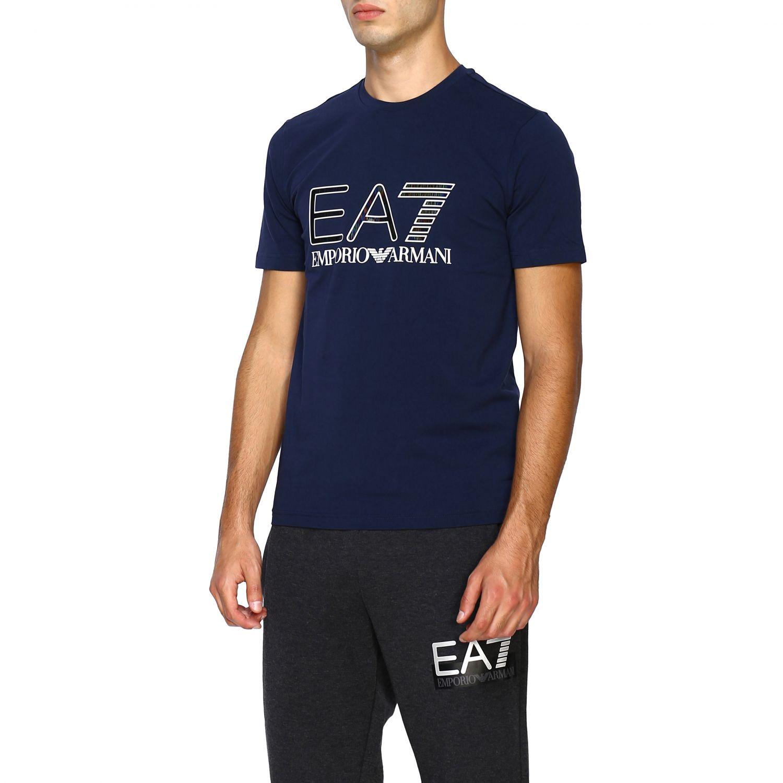 T-shirt homme Ea7 bleu 4