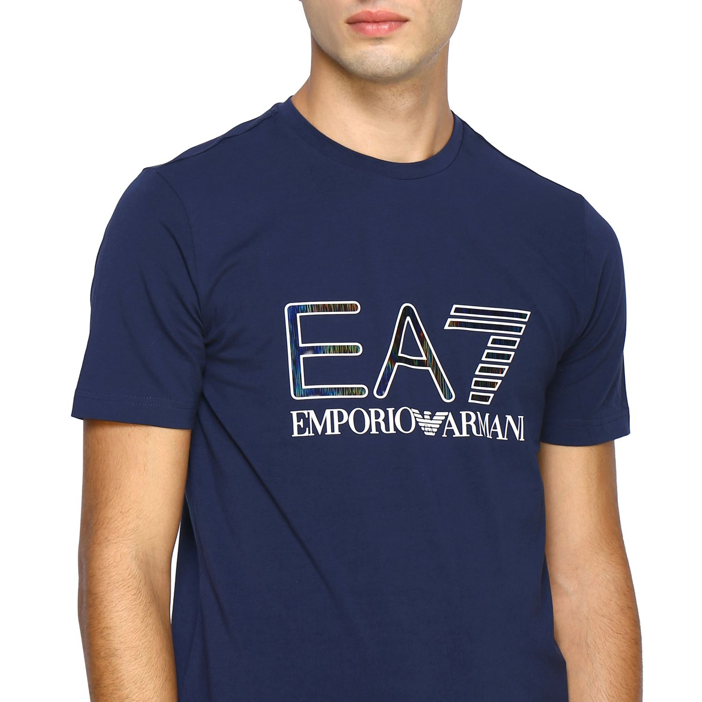 T-shirt homme Ea7 bleu 5