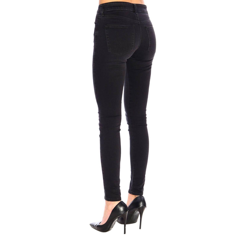 Jeans Slandy Diesel super skinny a vita regolare stretch a 5 tasche nero 3