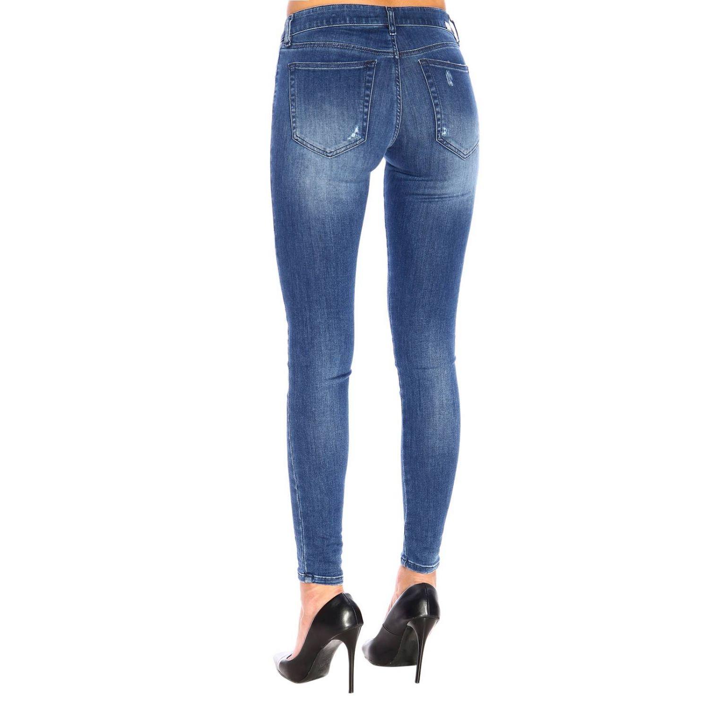 Jeans Slandy Diesel super skinny a vita bassa stretch used con rotture denim 3