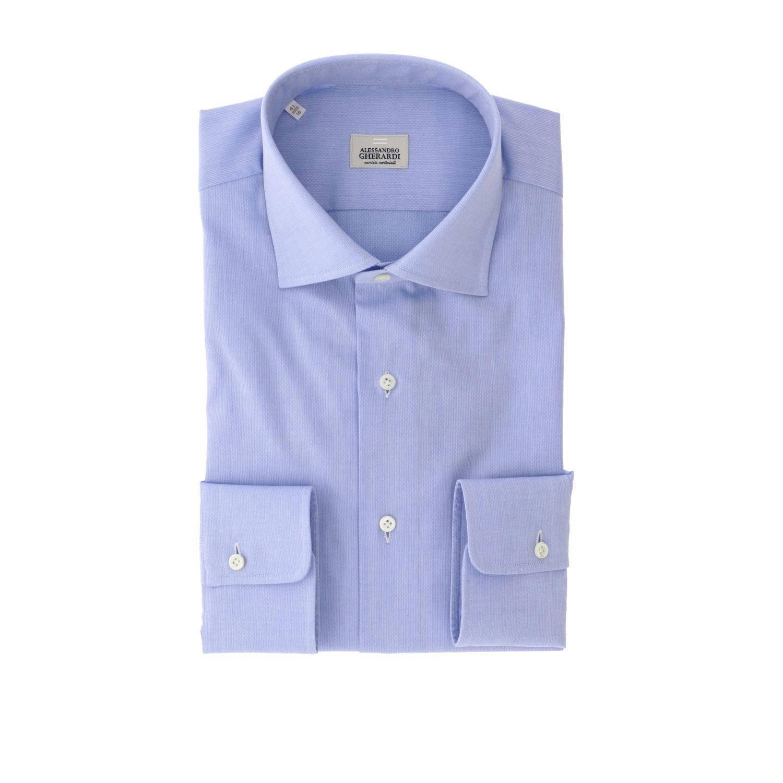 Shirt men Alessandro Gherardi gnawed blue 1