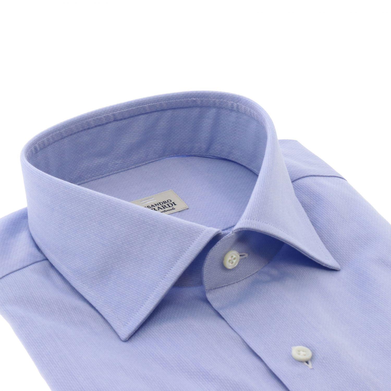 Shirt men Alessandro Gherardi gnawed blue 2