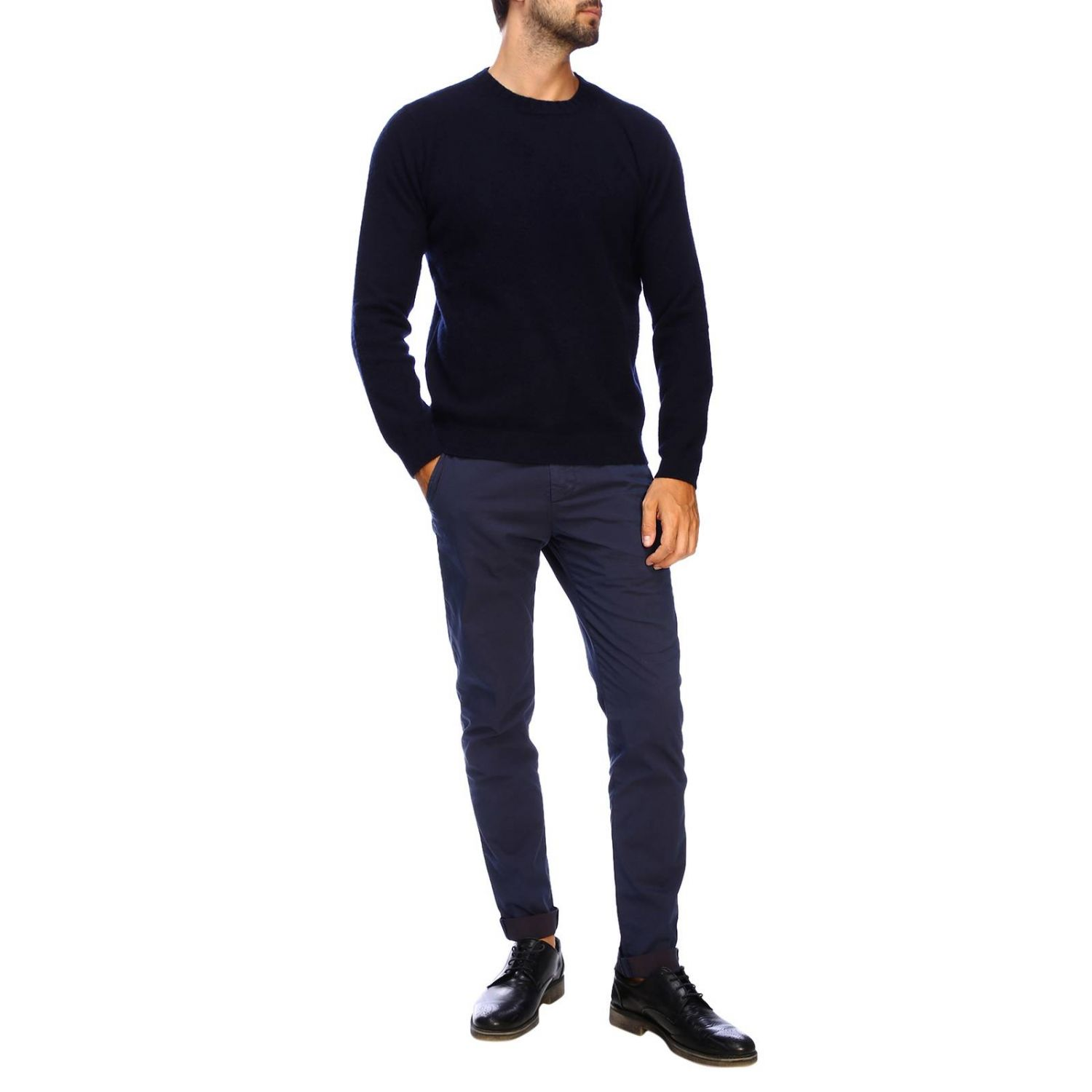 Sweater men Eleventy blue 2