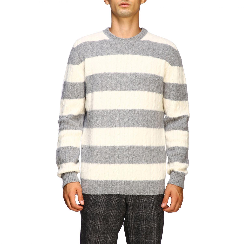 Sweater men Eleventy yellow cream 1