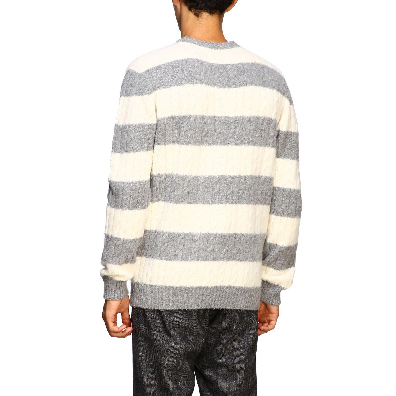 Sweater men Eleventy yellow cream 3