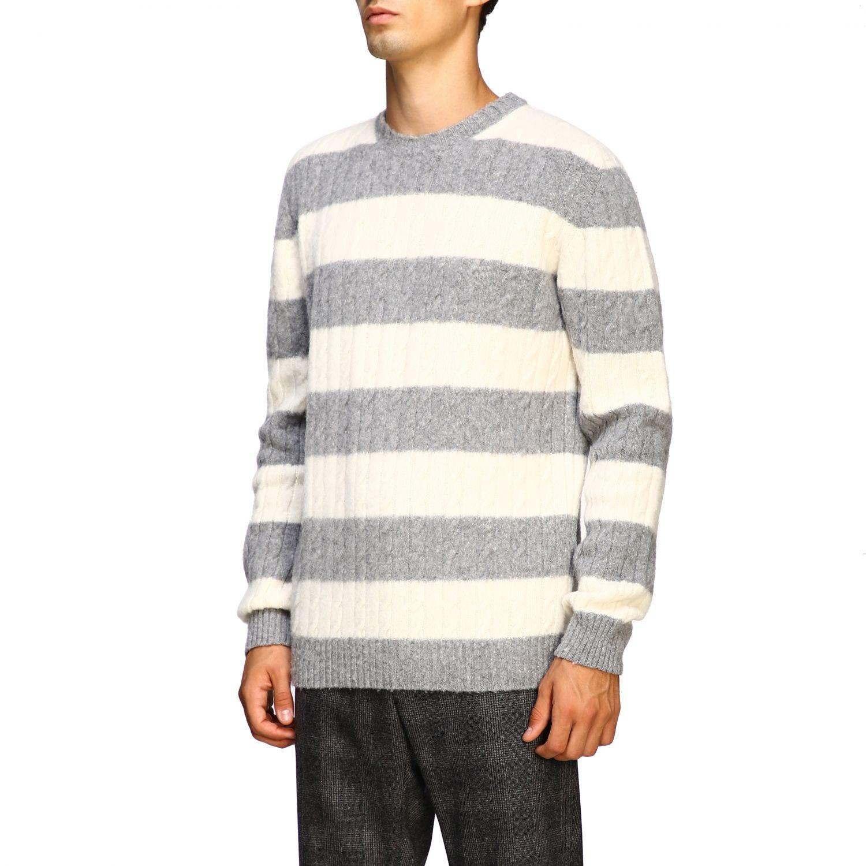 Sweater men Eleventy yellow cream 4