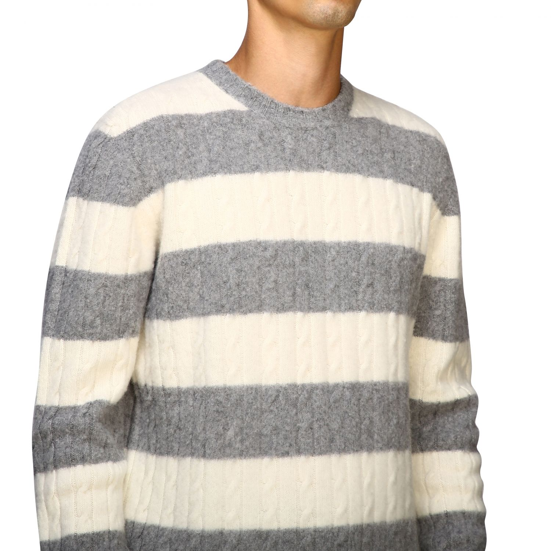 Sweater men Eleventy yellow cream 5