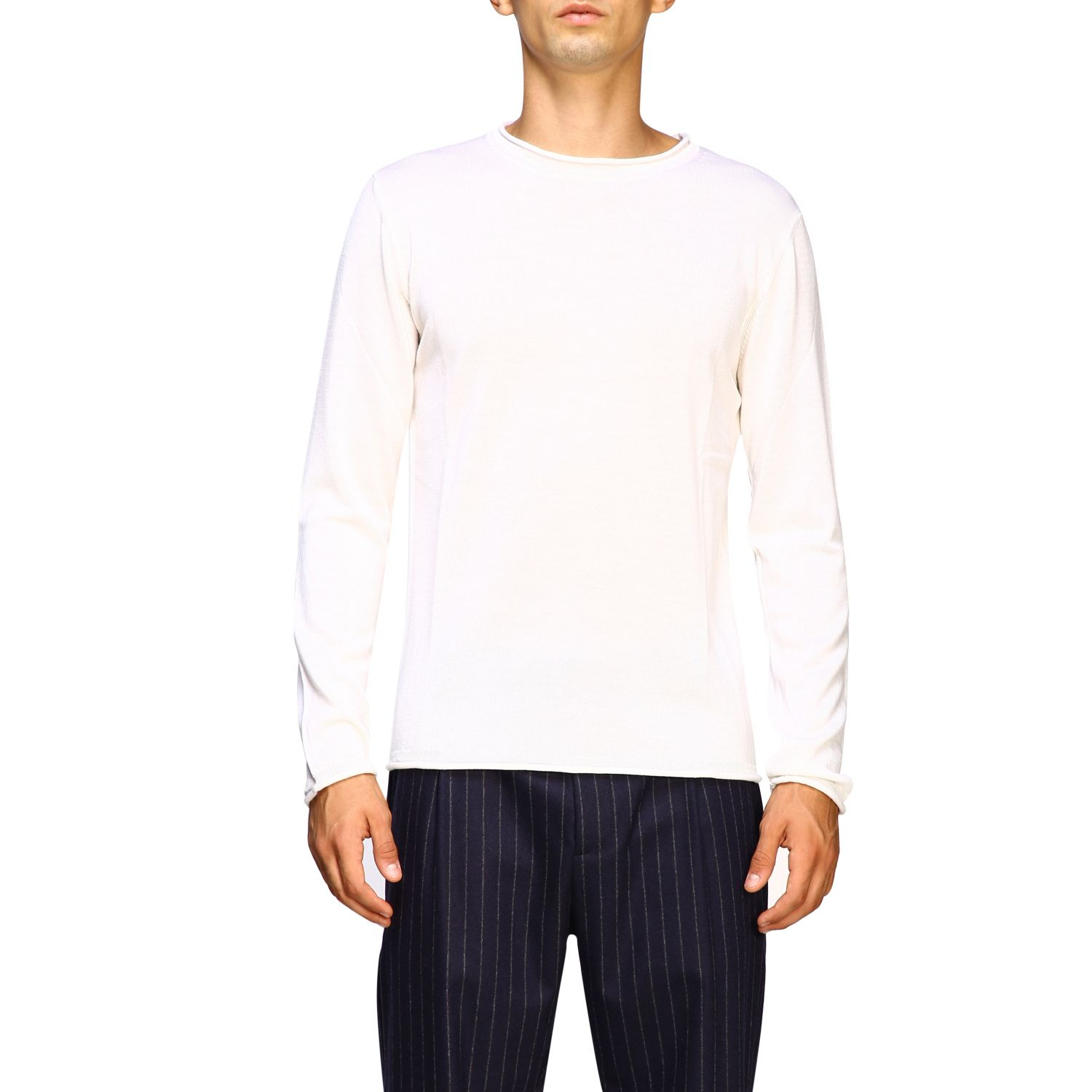 Sweater men Eleventy white 1