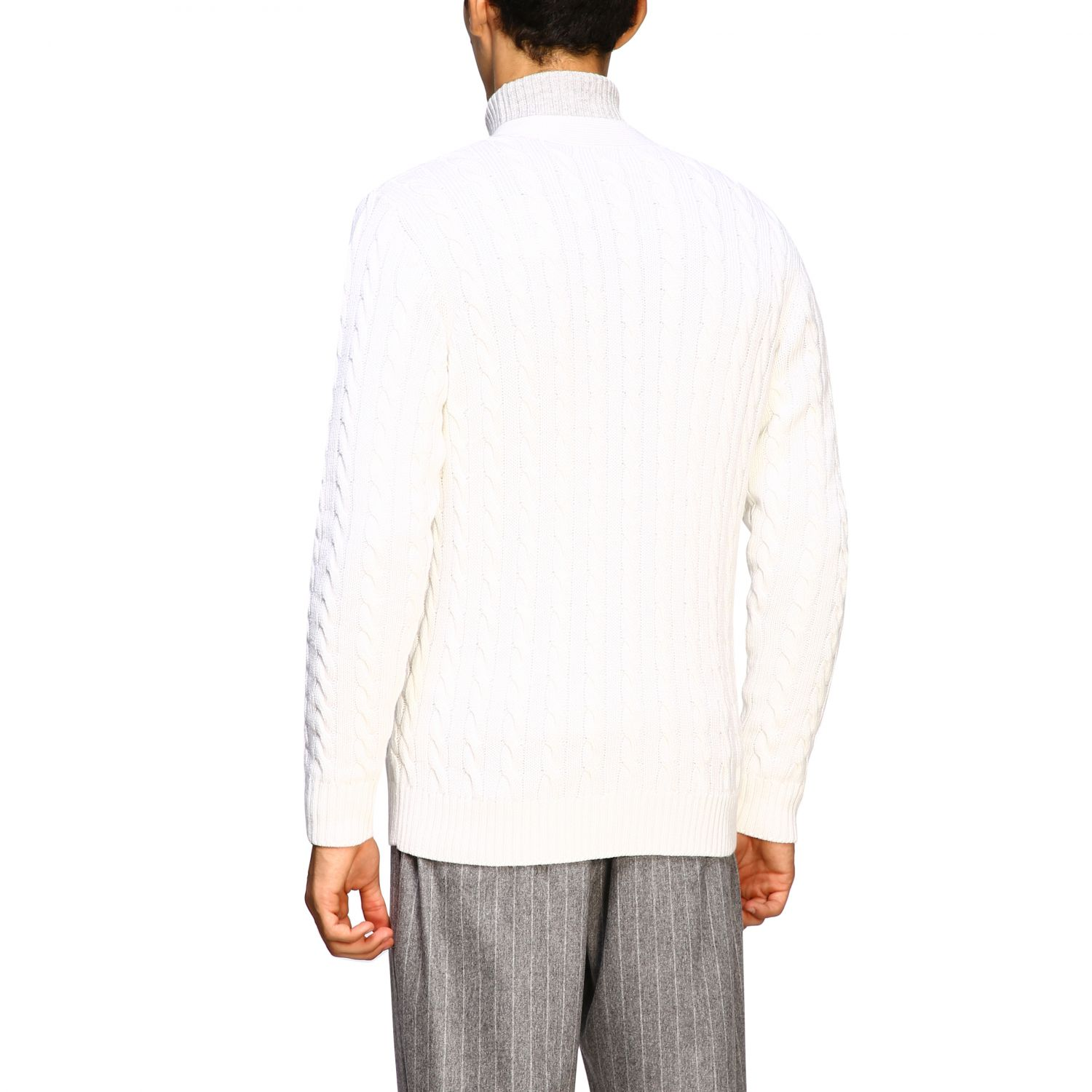 Sweater men Eleventy white 3