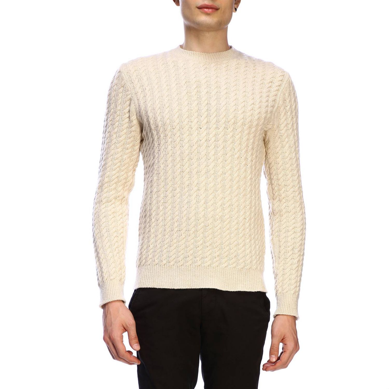 Pullover herren Eleventy yellow cream 1