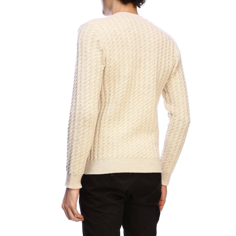 Pullover herren Eleventy yellow cream 3