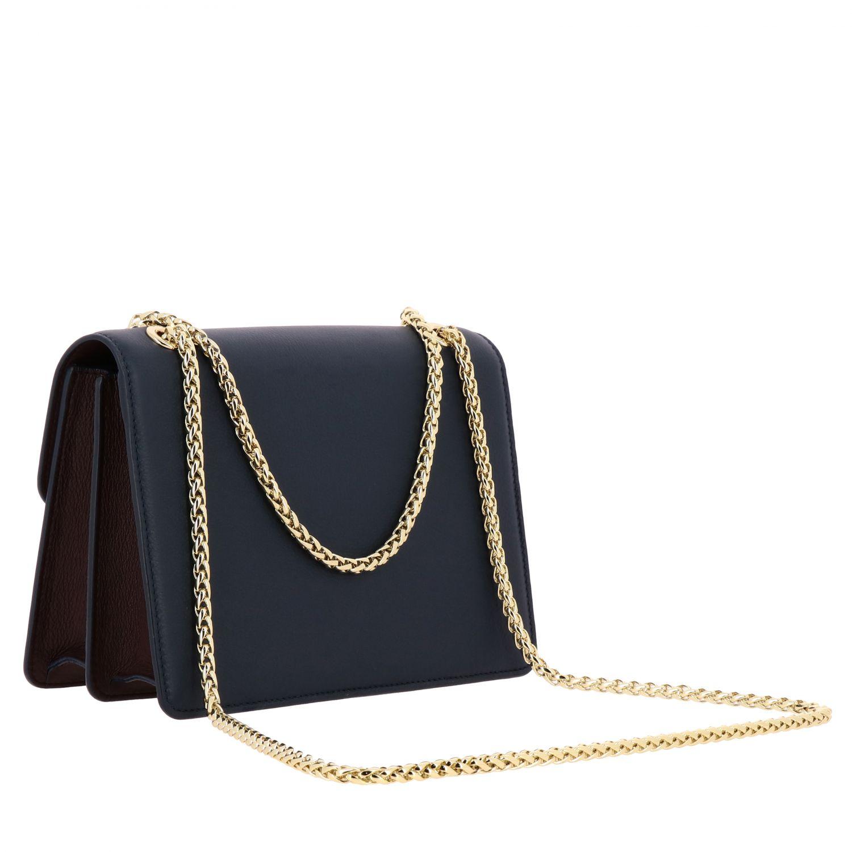 Bolso de hombro mujer Strathberry azul oscuro 2