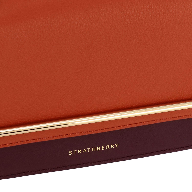 Bolso de hombro mujer Strathberry naranja 4