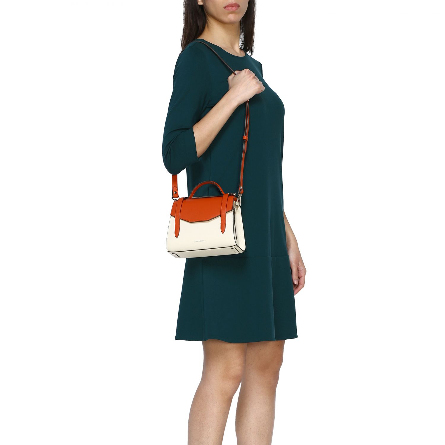 Shoulder bag women Strathberry orange 2
