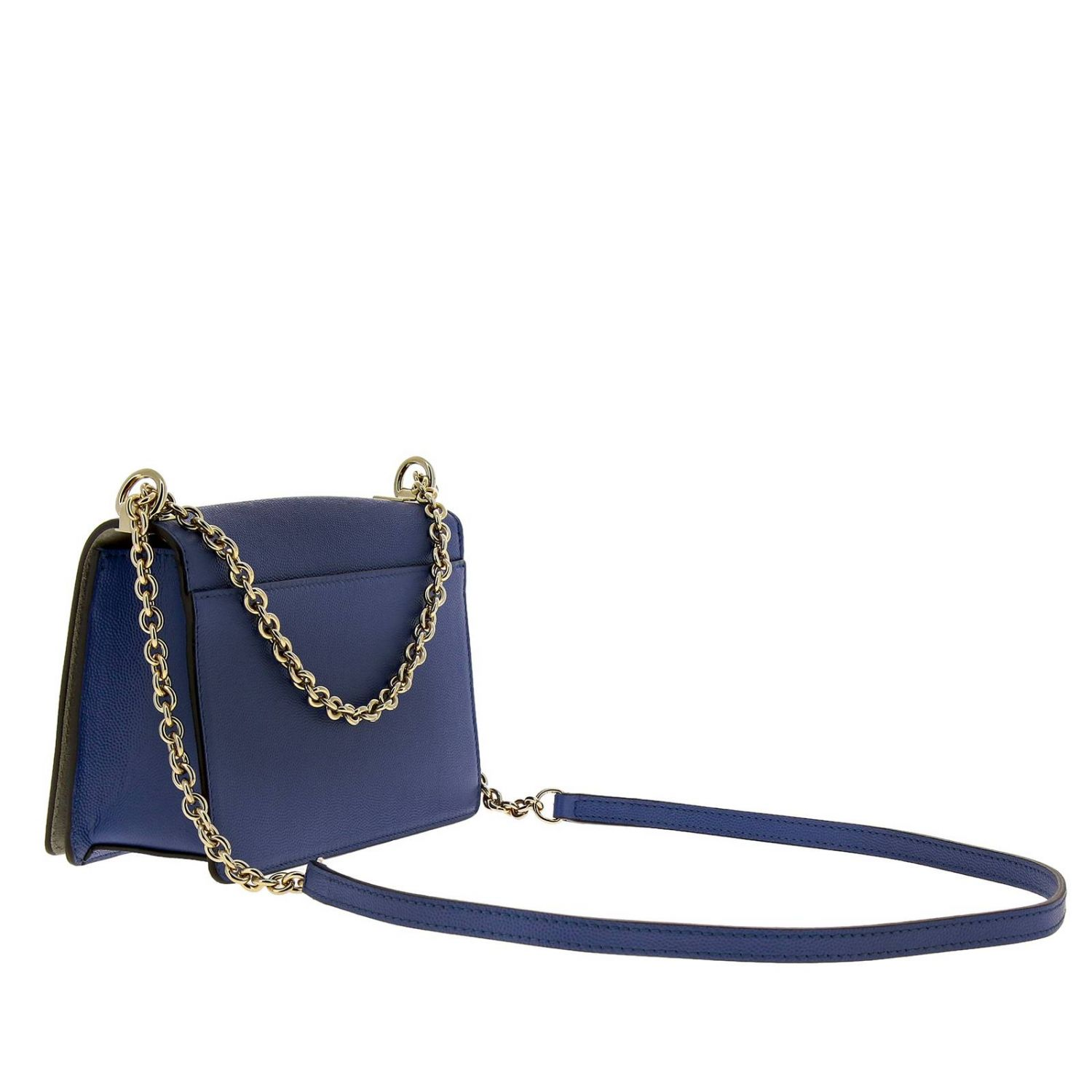 Mini bag Furla: Mimì Furla mini bag in textured leather with shoulder strap periwinkle 3