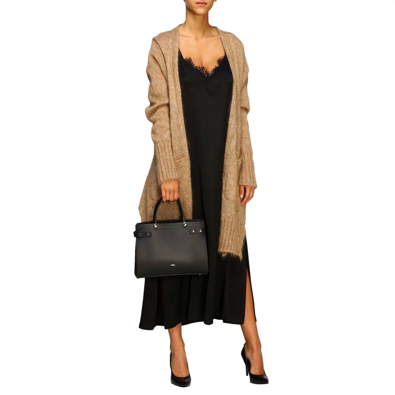 Handbag Furla: Lady Furla leather tote bag with logo black 2