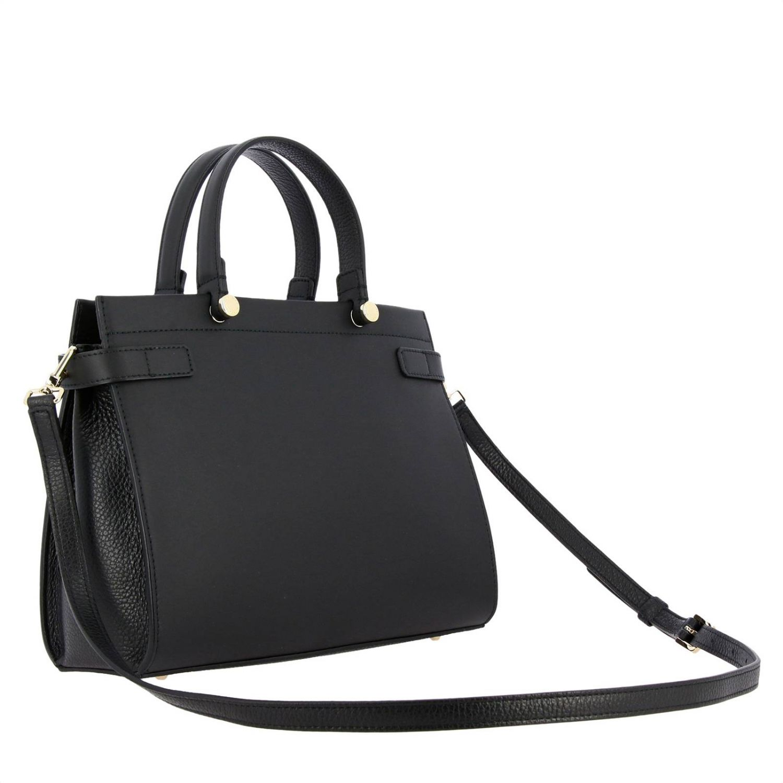 Handbag Furla: Lady Furla leather tote bag with logo black 3