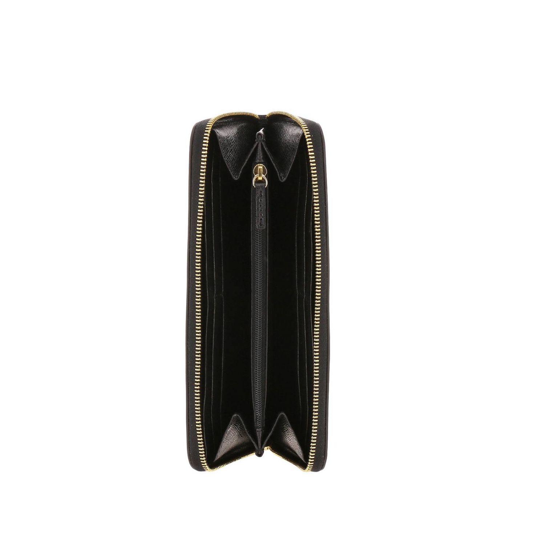 Portafoglio Babylon XL zip around in pelle saffiano con logo Furla nero 2