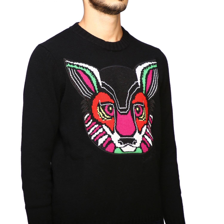 Girocollo jacquard coniglio nero 5