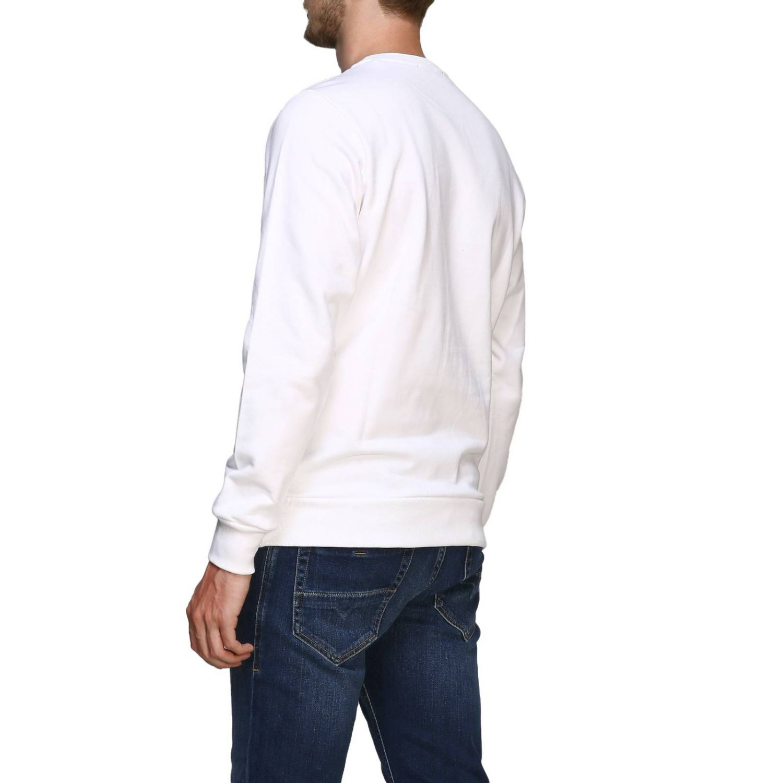 Diesel Sweatshirt mit Rundhalsausschnitt und Maxi-Logo-Print weiß 3
