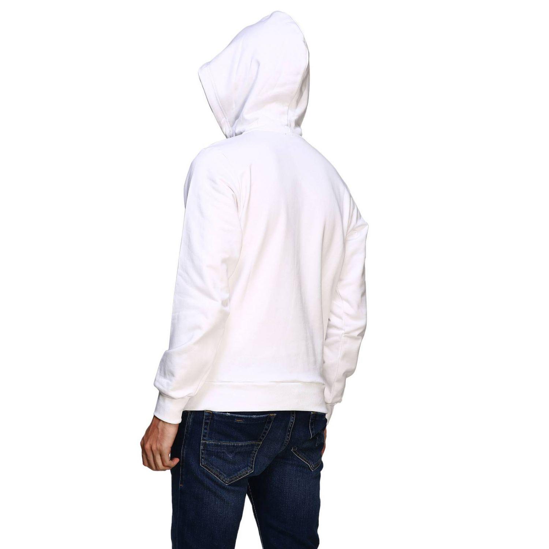 Diesel sweatshirt with hood and maxi print logo white 3