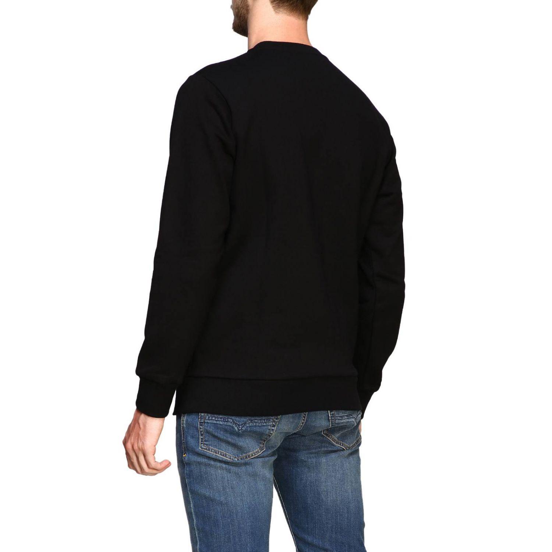 T-shirt Diesel a maniche lunghe con maxi stampa logo nero 3