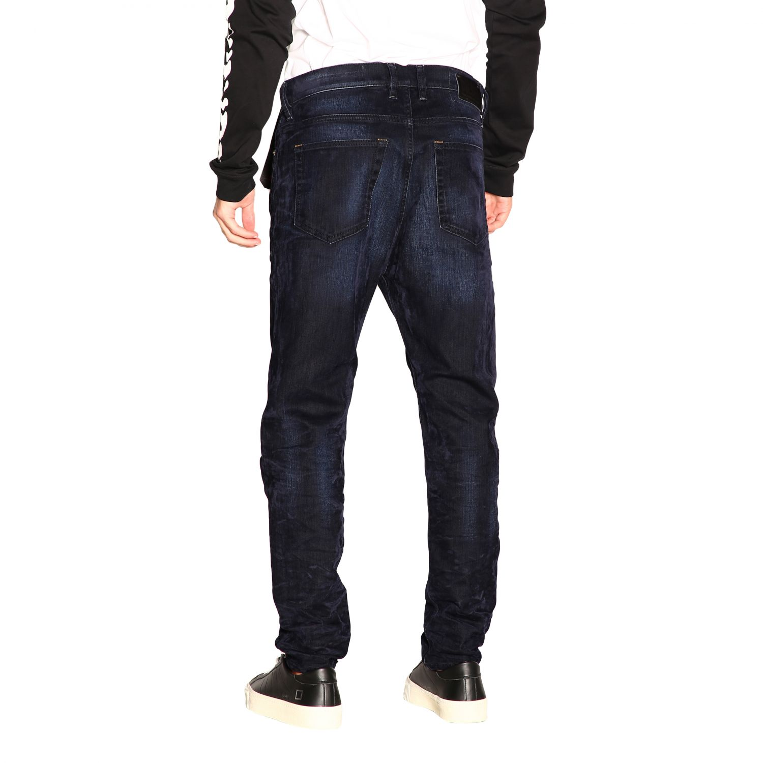 Jeans Diesel: Diesel D-vider Stretch jeans with low crotch and velvet treatment blue 3