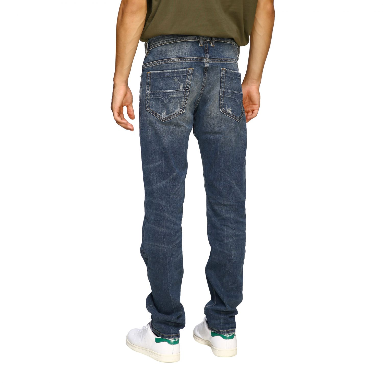 Jeans Diesel: Diesel Thommer slim skinny stretch jeans in used denim with 5 pockets and breaks denim 3