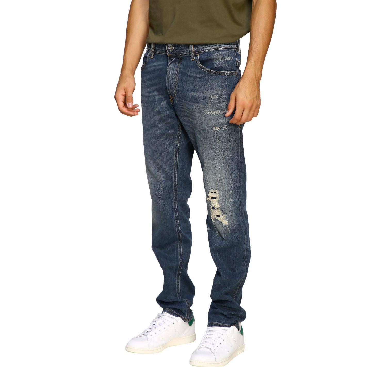Jeans Diesel: Diesel Thommer slim skinny stretch jeans in used denim with 5 pockets and breaks denim 4