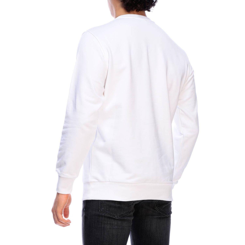 Diesel crew neck sweatshirt with maxi print logo white 3