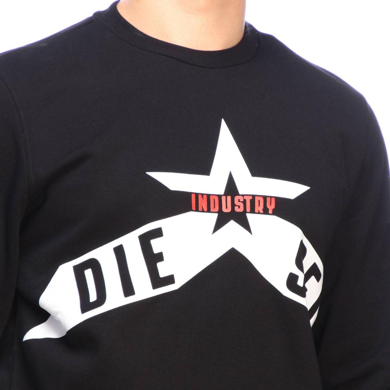 Diesel logo印花圆领卫衣 黑色 4