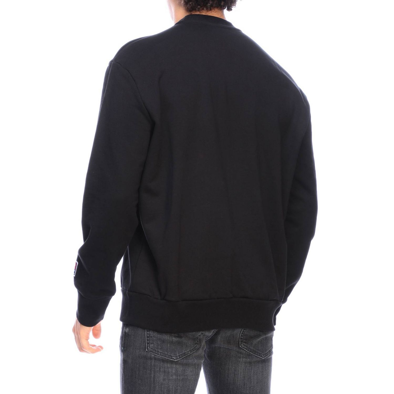 Pullover Diesel: Diesel Sweatshirt mit Rundhalsausschnitt und Maxi Logo schwarz 3