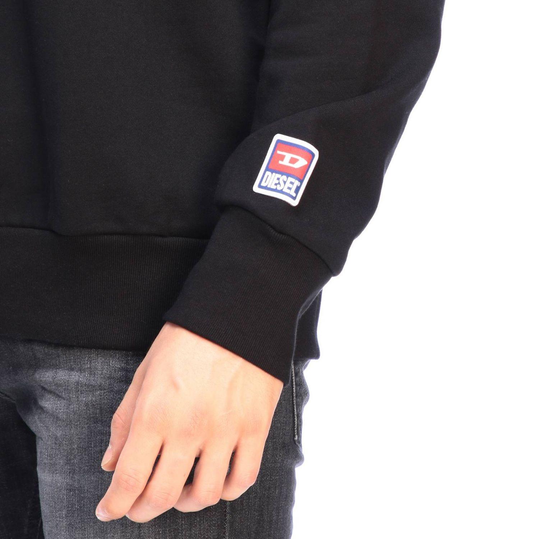 Pullover Diesel: Diesel Sweatshirt mit Rundhalsausschnitt und Maxi Logo schwarz 4