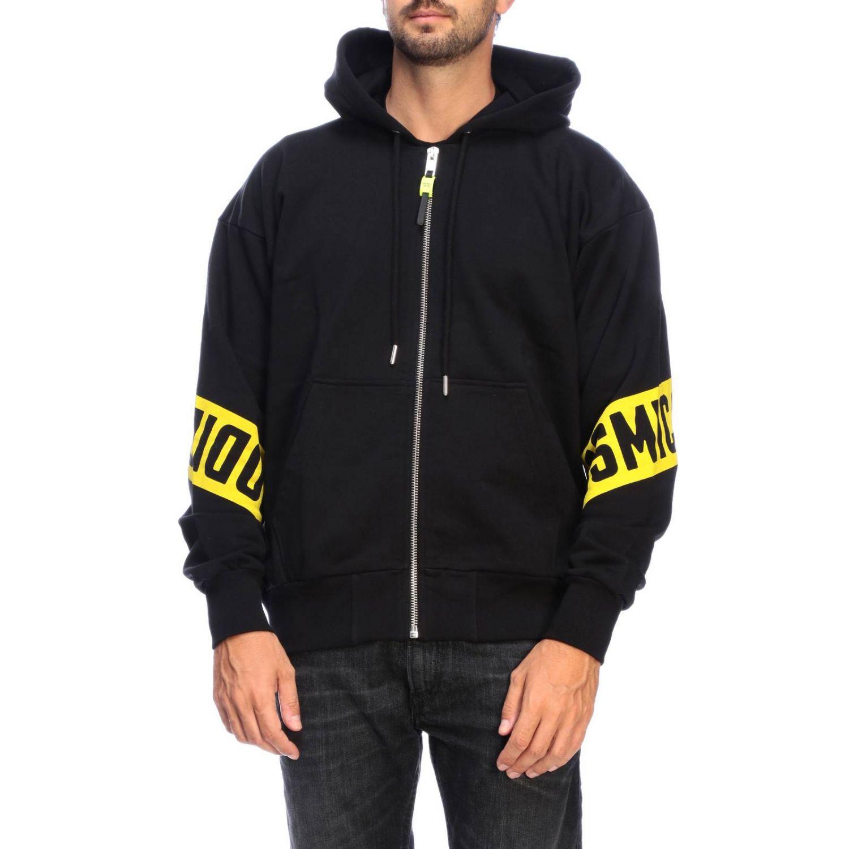 Diesel Sweatshirt mit Kapuze und Reißverschluss mit Logo-Print auf der Rückseite schwarz 1