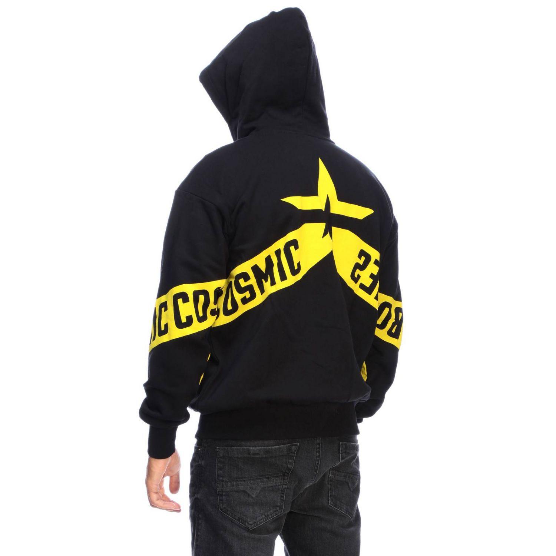 Diesel Sweatshirt mit Kapuze und Reißverschluss mit Logo-Print auf der Rückseite schwarz 3