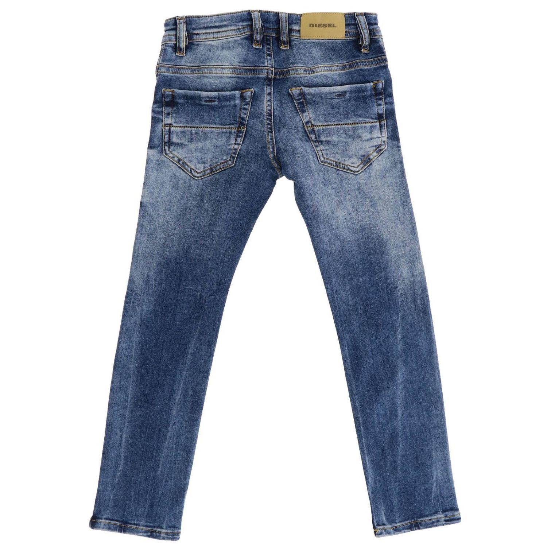 Jeans Diesel: Jeans slim Thommer Diesel en denim stretch usé avec déchirures denim 2
