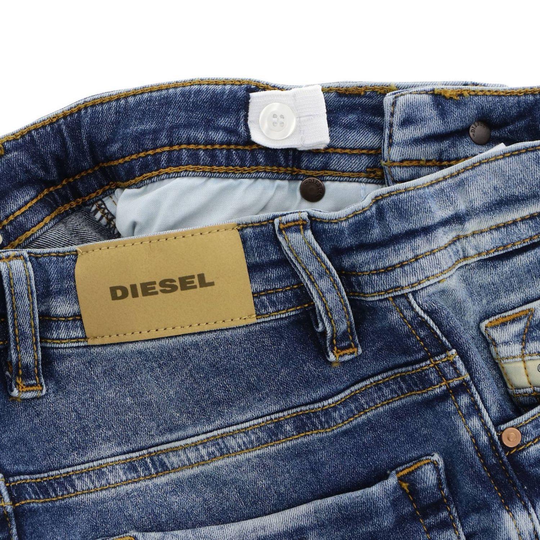 Jeans Diesel: Jeans slim Thommer Diesel en denim stretch usé avec déchirures denim 3