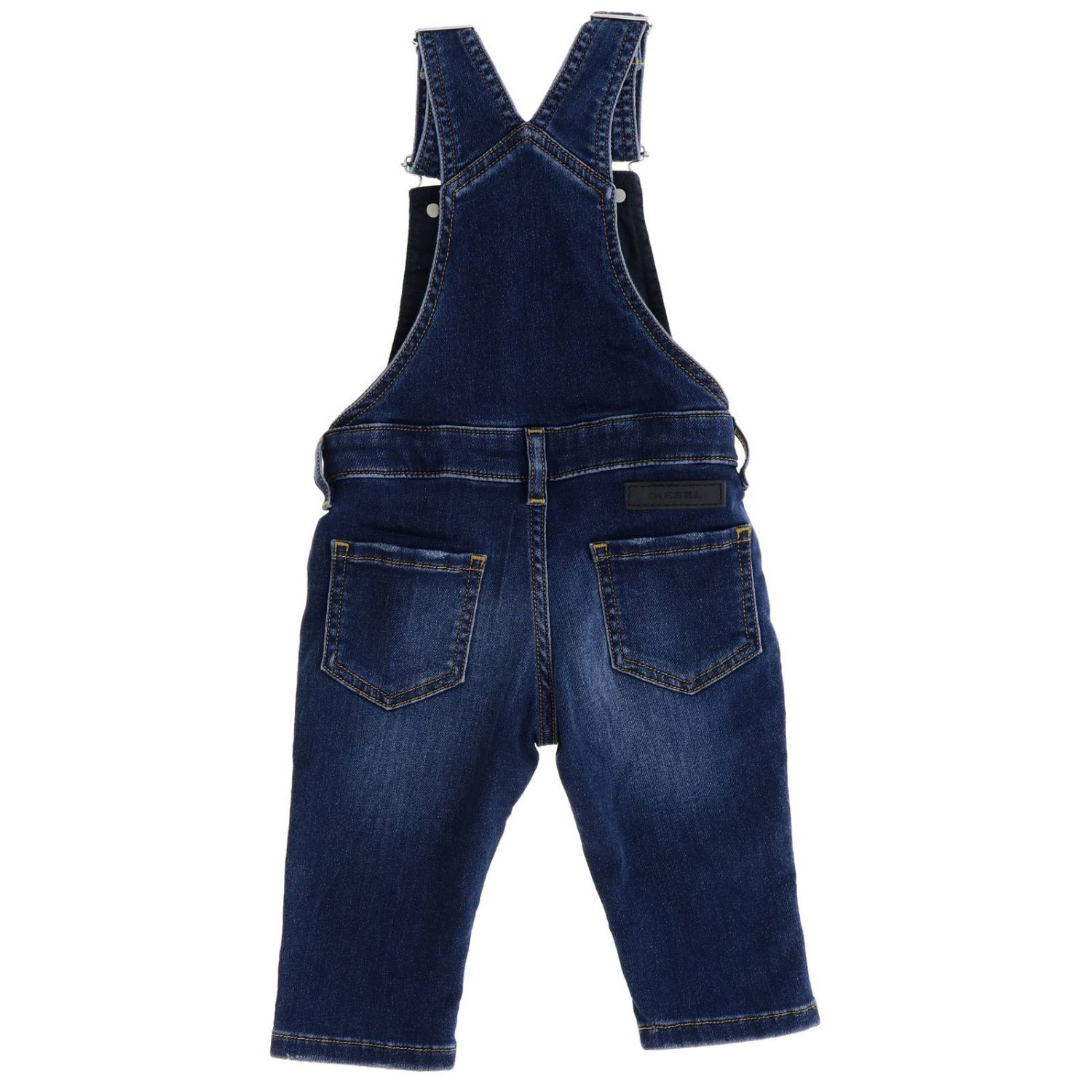 Tuta Diesel: Salopette di jeans Diesel in denim used denim 2