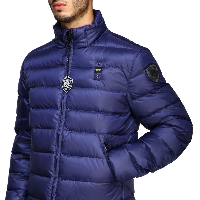 blauer jacke herren blau