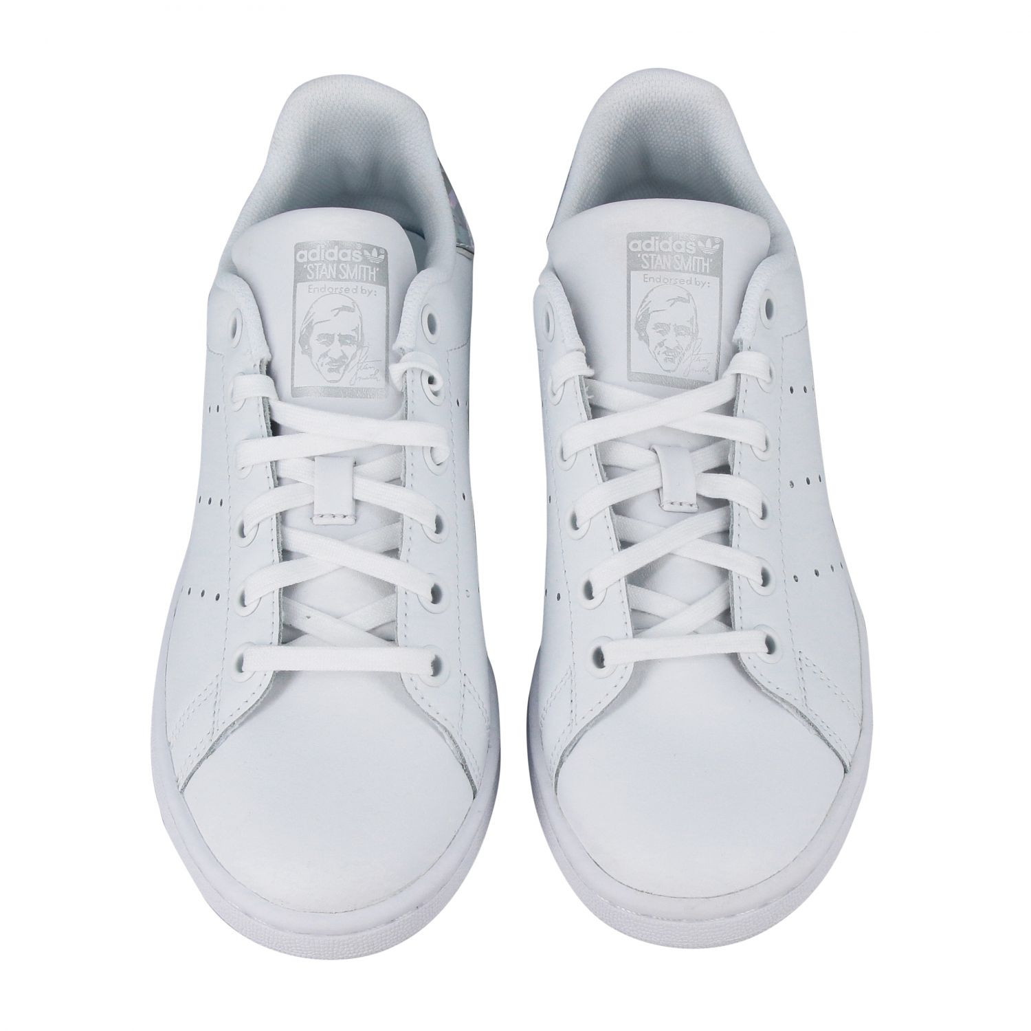 Scarpe Adidas Originals: Stan smith sneakers pelle tallone specchiato bianco 3
