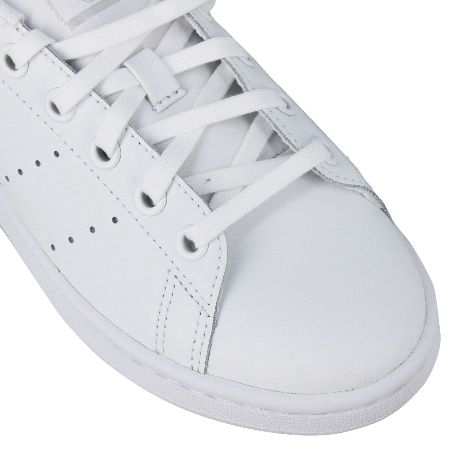 Scarpe Adidas Originals: Stan smith sneakers pelle tallone specchiato bianco 4